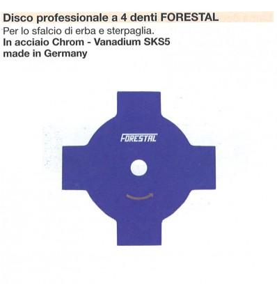 DISCO PROFESSIONALE 4 DENTI FORESTAL