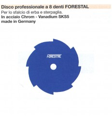 DISCO PROFESSIONALE 8 DENTI FORESTAL