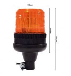GIROFARO LED BASE FLESSIBILE A IMBUTO 12-80V