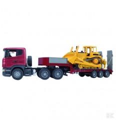 Camion rimorchio e bulldozer Scania