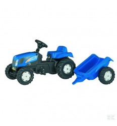 New Holland con rimorchio