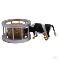 Mangiatoia circolare con mucca